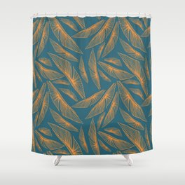 Feathered Leaf Pattern Shower Curtain