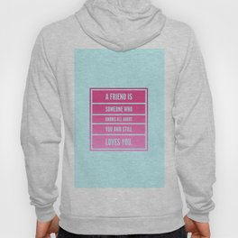 a friend is someone who knows all about you and still loves you Hoody