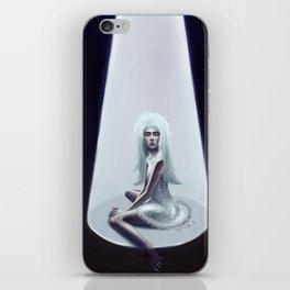 blue girl iPhone Skin