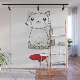 One Kitten, One Mitten Wall Mural