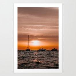 Ibiza Sunrise | Boat | Travel photography | Fine Art Art Print
