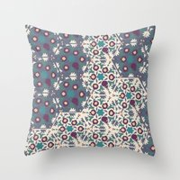 klimt Throw Pillows featuring Klimt MoonLight by Jamilla Okubo