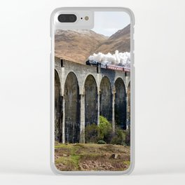 9 3|4 Hogwarts Express Clear iPhone Case