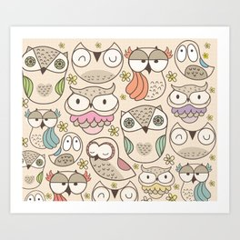 The owling Art Print