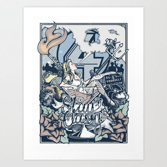Anchorman's ruin Art Print