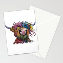 Scottish Highland Cow ' ROCK A BILLY ' by Shirley MacArthur Stationery Cards