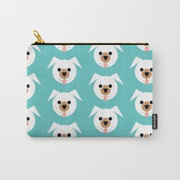 White Dogs Pattern Carry-All Pouch