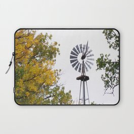 Windmill in the Fall Laptop Sleeve