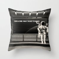 astronaut Throw Pillows featuring Astronaut by eARTh