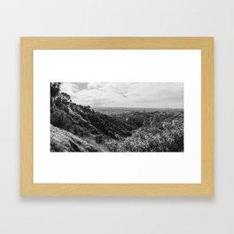 Griffith Observatory of California, Back & White Framed Art Print