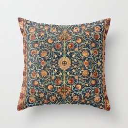 William Morris Floral Carpet Print Throw Pillow