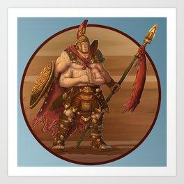 Monster of the Week: The Gladiator Art Print