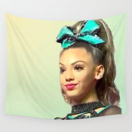 Smug Cheerleader Wall Tapestry
