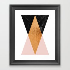 Copper Pink Geo Framed Art Print