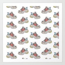 Balenciaga Triple S Sneaker Pattern Illustration Art Print