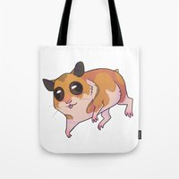 hamster Tote Bags featuring Hamster by Suzanne Annaars