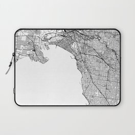 Melbourne White Map Laptop Sleeve
