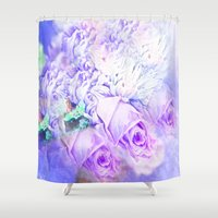roses Shower Curtains featuring Roses  by Saundra Myles