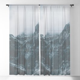 Cloud Mountain - Landscape Photography Sheer Curtain