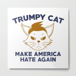 Trumpy Cat Metal Print