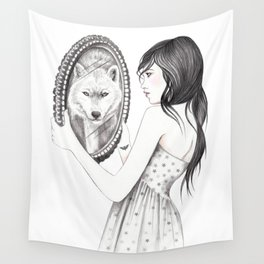 White Ghost Wall Tapestry