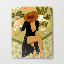 Make it Worth Their While, The Little Black Dress Metal Print