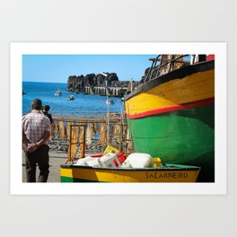 Watching the ships come in... Art Print