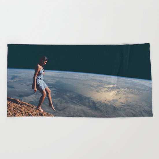 Going to Unknown World Beach Towel