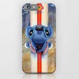 Waiting for the perfect wave...Stitch..^^ iPhone Case