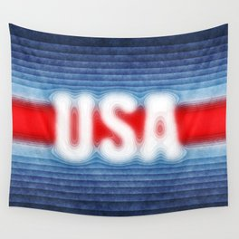 USA Typography Wall Tapestry