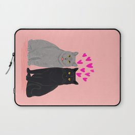 Cat Valentines love mew cute love animal cat lady pet gifts for cat person cell phone with cat  Laptop Sleeve