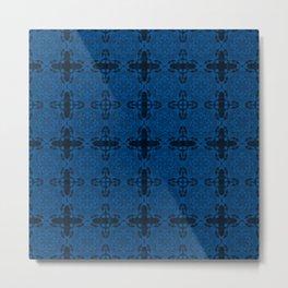 Lapis Blue Abstract Metal Print