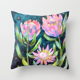 Sugarbush Night Garden Throw Pillow