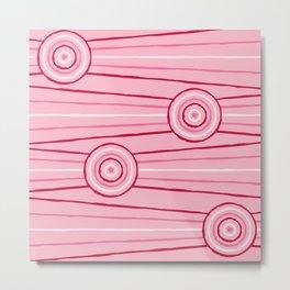 Gumnut Blossom Line Painting Metal Print