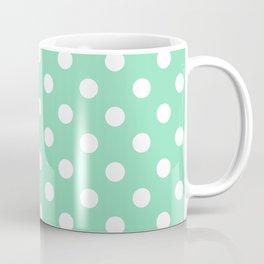 Polka Dots (White & Mint Pattern) Coffee Mug