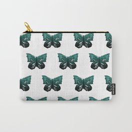 Butterfly Pattern #1 #green #black #decor #art #society6 Carry-All Pouch