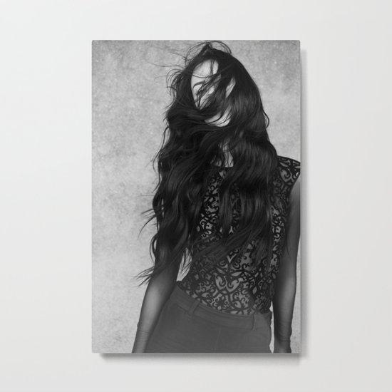 Black and white movement Metal Print