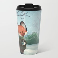 Fox in Winter Metal Travel Mug