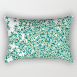 Blue and Yellow Forget Me Knots Rectangular Pillow
