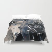 vespa Duvet Covers featuring Vespa  by Natural Outlook