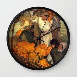 Saturnino Herran - The Offering, 1913 Wall Clock