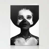 eye Stationery Cards featuring Hold On by Ruben Ireland