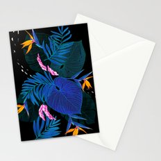 tropical // night in the garden Stationery Cards