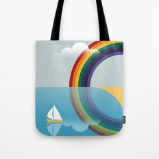 Rainbow by the Sea Tote Bag