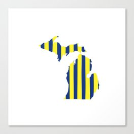 Maize and Blue Michigan Canvas Print