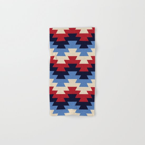 Aztec geometric pattern Hand & Bath Towel