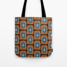 cyberman stained glass Tote Bag