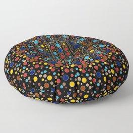 Hamsa Hand - Hand of Fatima colorful dot art Floor Pillow