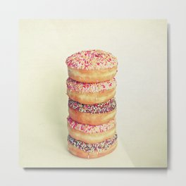 Stack of Donuts Metal Print