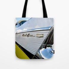 Yellow Classic American Muscle Car Belair  Tote Bag